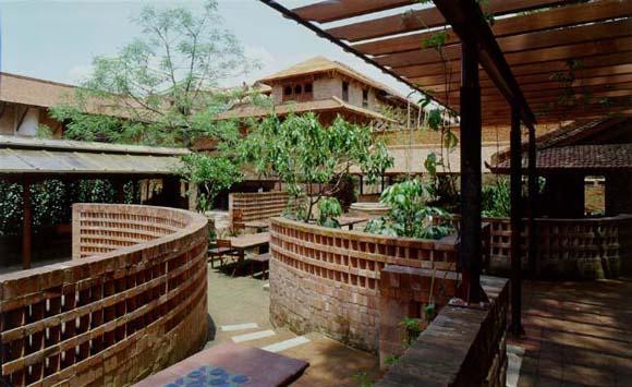 The Patan Museum Cafe garden.