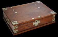 Rare Chinese Huanghuali Box for Dutch Market