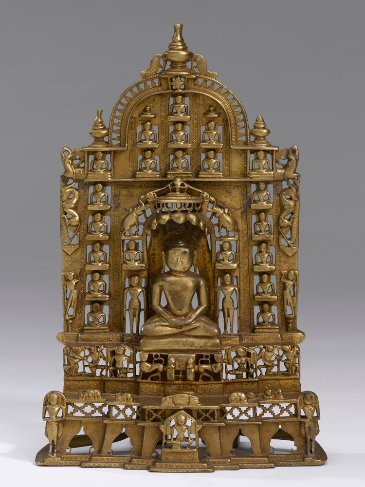 A Bronze Shrine Of Parshvanatha