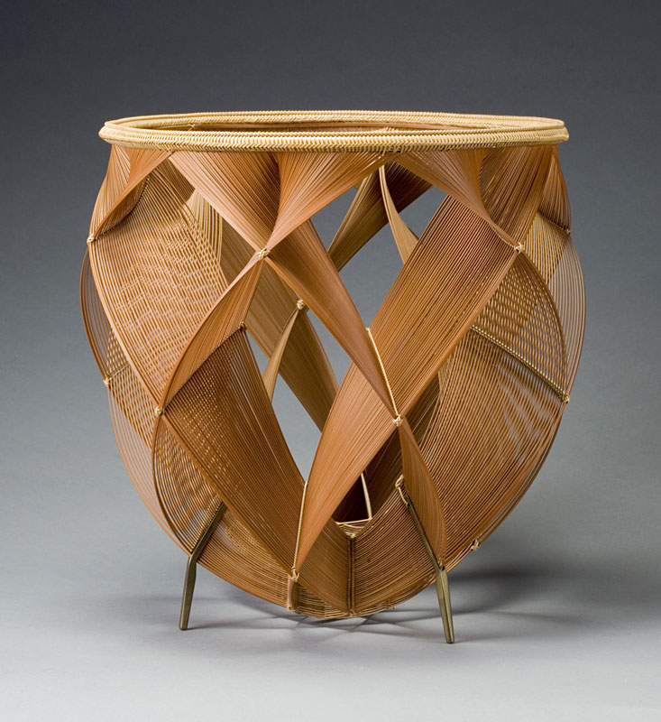 Basketry In Art : Bambooponic japanese bamboo rattan baskets and sculptures