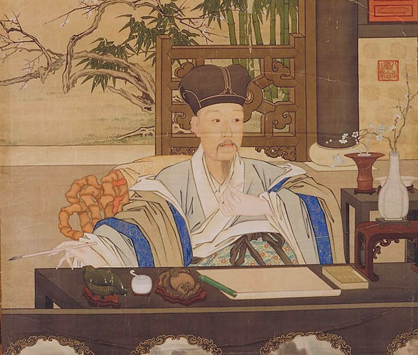 Qianlong Emperor at his Writing Desk