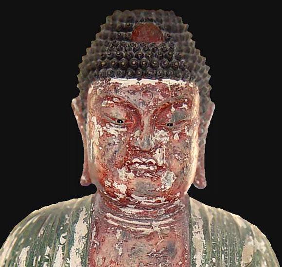 Ancient Wood Buddha on Black Pearl Antiques and Fine Arts, LLC