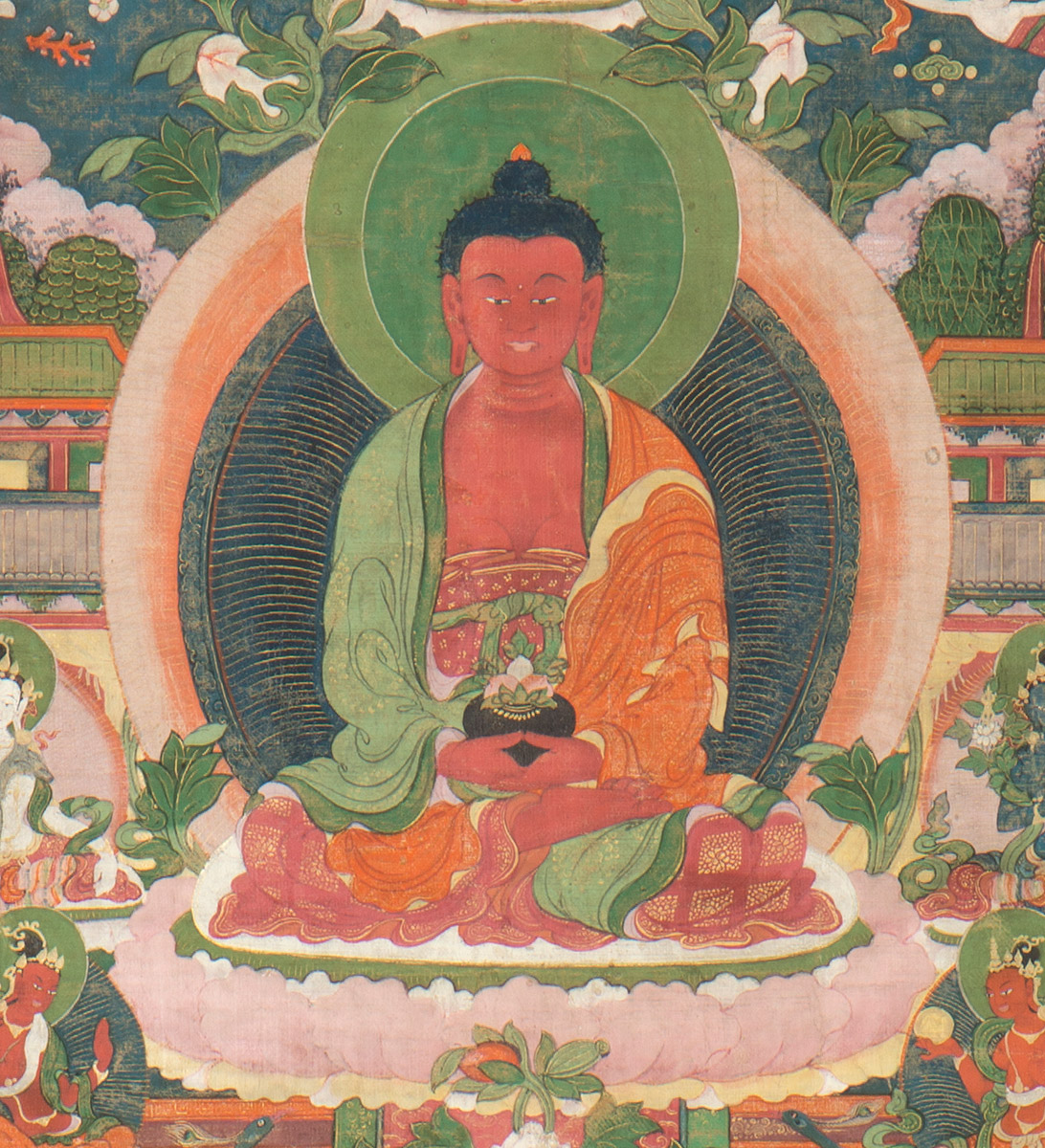 Thangka of Amithaba in paradise