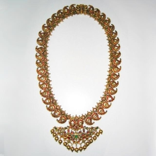 22Kt gold Mango Mala necklace from India