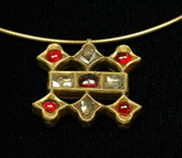 Traditional Ruby and Diamond Pendant