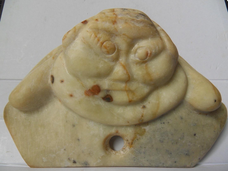 Humor Chinese Ancient Hongshan Culture Old Jade People Man Human Skeleton Beast Statue Chinese
