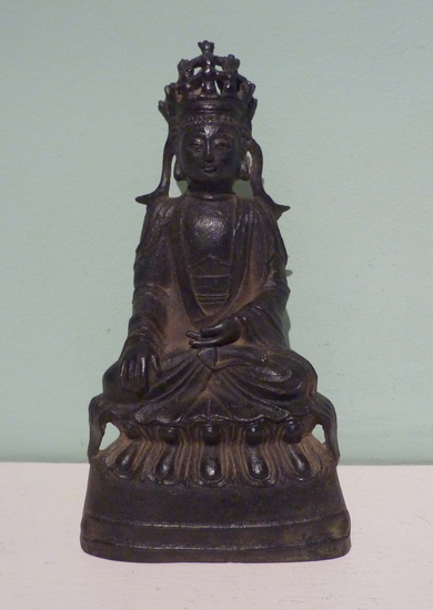 Chinese Ming dynasty bronze seated Guanyin