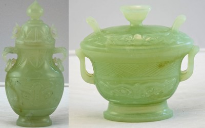 Antique Chinese Green Jade Vessels