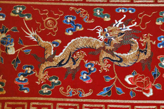 Rare Qing Dynasty Chinese Altar Hanging On Silk Road