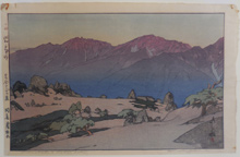Hiroshi Yoshida (1876 - 1950): Manotake and Notoridake, from The Southern Japan Alps series